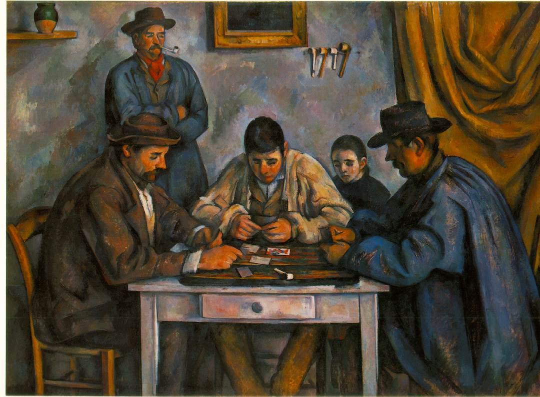 'Les joueurs de carte', Cezanne (1890-92)