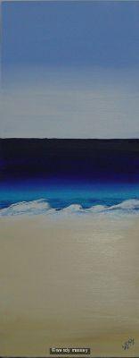 'Peaceful Beach' - painting