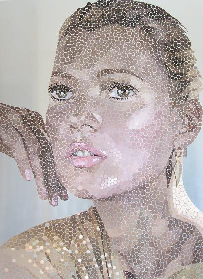 Kate Moss by Paul Normansell - artwork