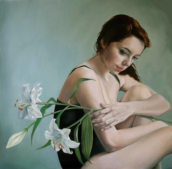 'Lilies' - oil painting