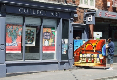 'The crown, dusk'by Malcolm Croft is delivered prior to Malcolm's solo show at Collect Art