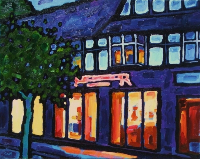 Curry house, dusk by Malcolm Croft