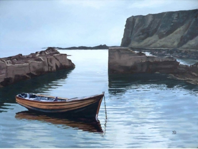 Auchmithie Harbour by David Ian Smith