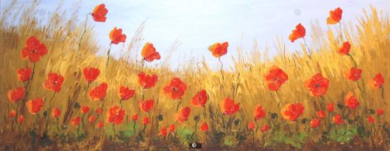 Natural Poppy Field2 by Sandra Francis