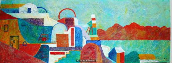 Greek Panorama by  Nathalie Pymm