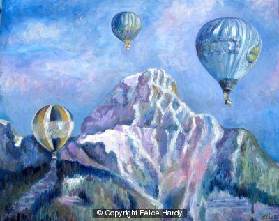 Three balloons by Felice Hardy