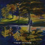 Reflections of Trees, Australia by Judy Foulsham