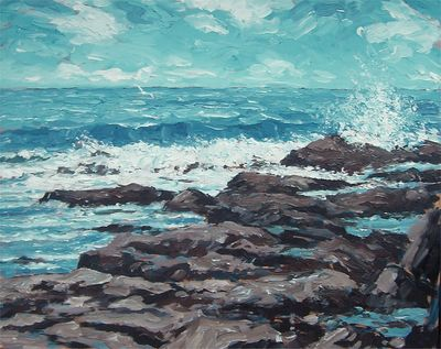 Northumberland Seascape by Colin Ross Jack