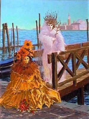 Sun and Moon, Venice Carnival by Colin Ross Jack