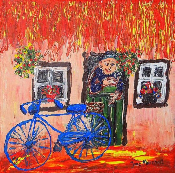 The Blue Painted Bike by June Marshall