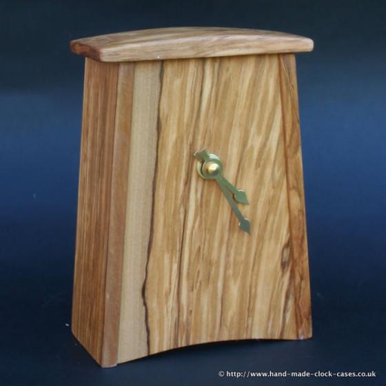 Figured Cherry Mantel Clock by David Rodgers
