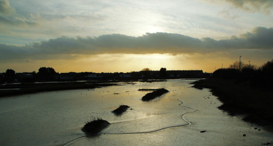 Shoreham, Adur Mud Flats by Adrian Holloway