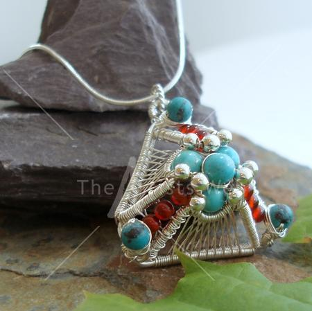 Turquoise Pyramid Pendant by Abby Hook