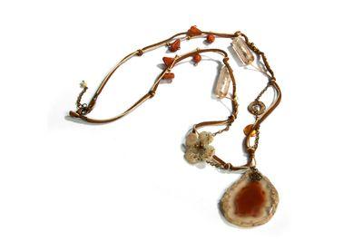 Agate Stone Necklace by Mihaela Zhekova