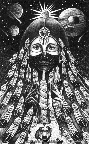 Black Buffalo Woman 2 by Bart Eason