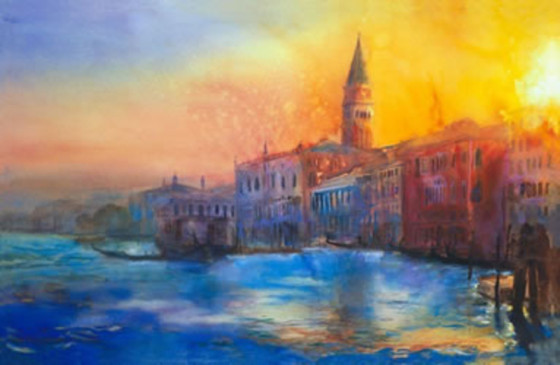 Sunset Over St. Marks by Cecil Rice