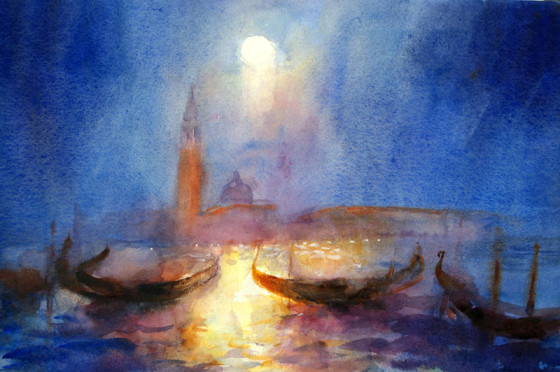 San Giorgio by Moonlight by Cecil Rice