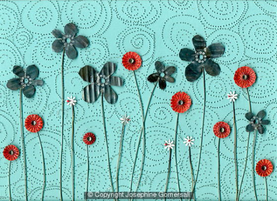 Poppies and Daisies by Josephine Gomersall