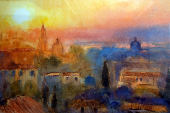 Sunset, Florence by Cecil Rice
