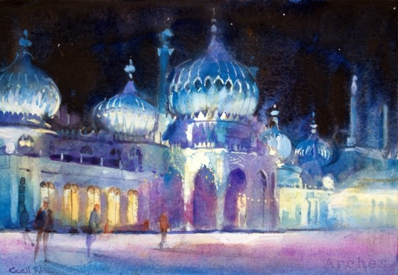 Ice Skating, Royal Pavilion by Cecil Rice