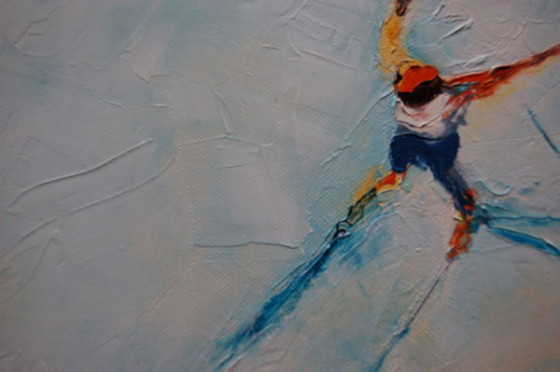 Skiers by Claire Daniel