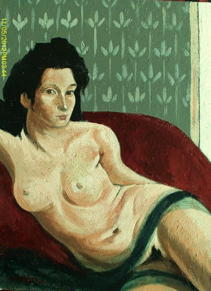 Reclining Nude by Carl Ansloos