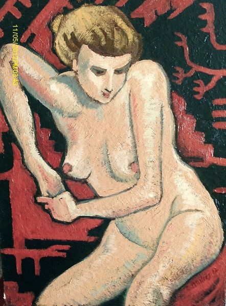 Nude on Carpet by Carl Ansloos