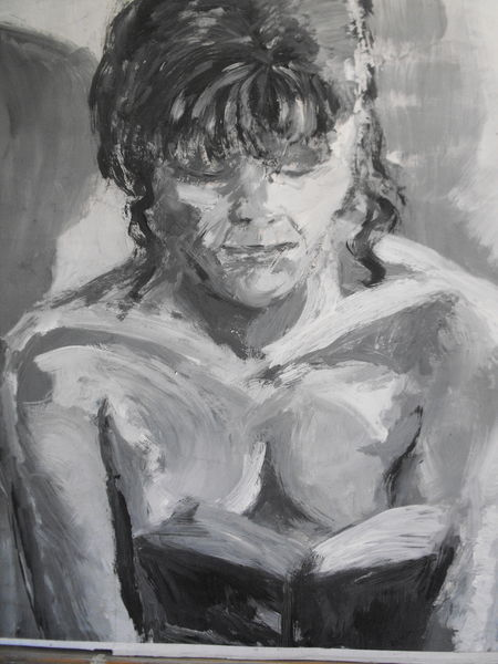 Woman Reading by April Skinner