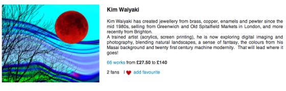 Screen shot of Kim Waiyaki's artwork