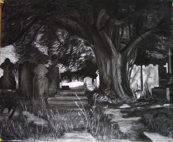http://www.junebroadhurst.co.uk/charcoal-drawings/427768_beauty-in-the-churchyard.html
