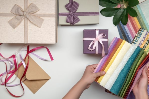 colourful gift wrap and wrapping paper