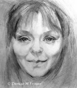 Denise M Fraser - Self Portrait (graphite on paper)