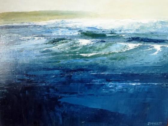 James McNulty - Dark Sea Breaking (oils on wood)
