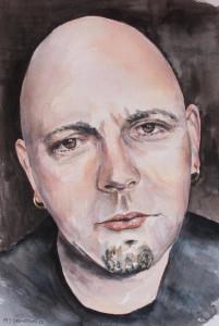 Matthew Ormston - Self Portrait 2 (watercolour)