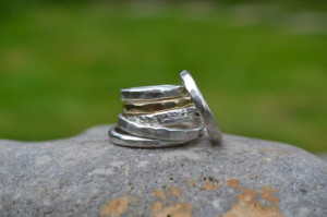 Muriel & Lily - Handmade Wedding Rings (silver and gold)