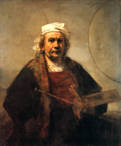 Rembrandt - Self-Portrait with Two Circles
