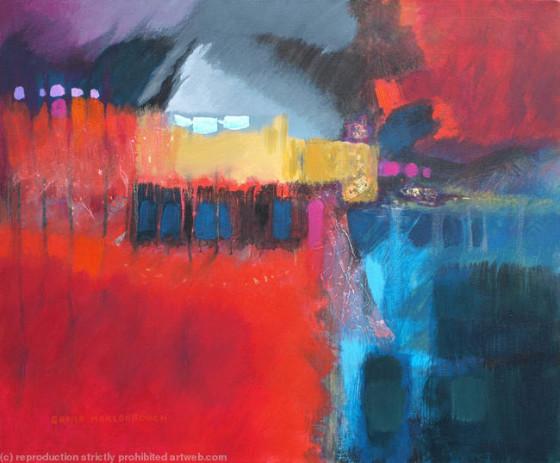 Sheila Marlborough - Breaking Free (mixed media on canvas)
