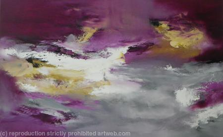 purple, gold and grey abstract