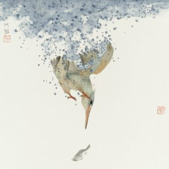 Contemporary artist of Chinese ink painting