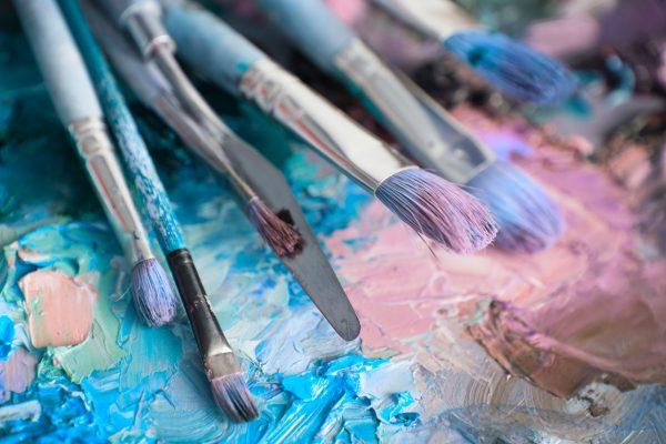 macro artist's colour palette - pastel paint