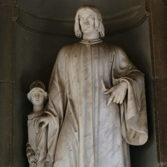 Statue of Lorenzo de Medici, one of the most famous art patrons in history